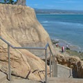 The stairs down to the water at Opal Cliffs/Pleasure Point.- Opal Cliffs