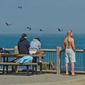 High vantage point to view surfers and wildlife along Opal Cliffs/Pleasure Point.- Opal Cliffs