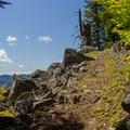 The trail along the ridge to Fish Creek Mountain.- Fish Creek Mountain
