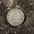USGS marker at the summit of Fish Creek Mountain.- Fish Creek Mountain
