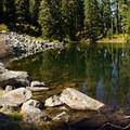 High Lake pools just beneath Fish Creek Mountain.- Fish Creek Mountain