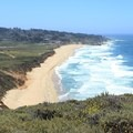 Montara State Beach seen from Gray Whale Cove Trail.- Gray Whale Cove Trail