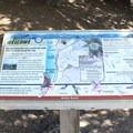 Informational placard at North Peak Access Road gate.- Montara Mountain