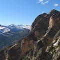 Neighboring peaks.- South Early Winter Spire: Southwest Rib