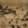 Artifact timeline comprised of objects unearthed at Sanchez Adobe.- Sanchez Adobe
