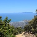 Marin Headlands and the Pacific seen from Montara Mountain Trail.- Montara Mountain Trail