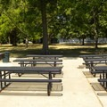 A group barbecue area in McKinley Park.- McKinley Park