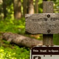 Wahtum Express sign.- Chinidere Mountain + Wahtum Lake Hike