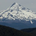 Mount Hood (11,249 ft) from Chinidere Mountain.- Chinidere Mountain + Wahtum Lake Hike