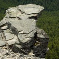 A rocky outcropping on Chinidere Mountain.- Chinidere Mountain + Wahtum Lake Hike
