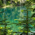 The blue waters of Wahtum Lake.- Chinidere Mountain + Wahtum Lake Hike
