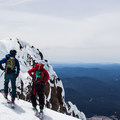 Nice views south toward Mount Jefferson (10,495') and the Three Sisters (10,358').- Mount Hood: West Crater Rim Descent