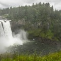 Snoqualmie Falls from the upper viewing area.- Snoqualmie Falls