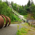Snoqualmie Falls Lower Park diversion pipeline and power station.- Snoqualmie Falls