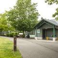 Lake Boran Park restroom facility.- Lake Boran Park