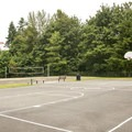 Lake Boran Park basketball and sand volleyball court.- Lake Boran Park