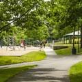 Lake Boran Park playground and picnic shelter #1.- Lake Boran Park