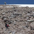 The last quarter of the ascent joins the summer Summit Trail, which melts out quickly in low snow years.- Lassen Peak: Southeast Face Backcountry Ski