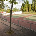 Luther Burbank Park tennis courts.- Luther Burbank Park