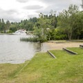 Luther Burbank Park beach and swimming area.- Luther Burbank Park
