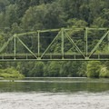 Snoqualmie River and Carnation Farm Road bridge.- Chinook Bend Natural Area