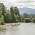 Snoqualmie River and Tiger Mountain from Tolt-MacDonald Park.- Tolt-MacDonald Park