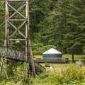 Tolt-MacDonald Park footbridge and campground.- Tolt-MacDonald Park