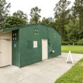 John MacDonald Memorial Campground restroom/shower facility.- John MacDonald Memorial Campground
