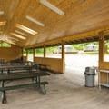 John MacDonald Memorial Campground south picnic shelter.- John MacDonald Memorial Campground