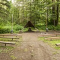 John MacDonald Memorial Campground amphitheater.- John MacDonald Memorial Campground