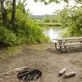 John MacDonald Memorial Campground north-end walk-in campsite.- John MacDonald Memorial Campground
