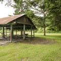 John MacDonald Memorial Campground north picnic shelter.- John MacDonald Memorial Campground