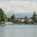 View of Mount Rainier (14,410') from Lake Tapps Park.- Lake Tapps Park
