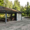 Priest Point Park picnic shelter #1.- Priest Point Park