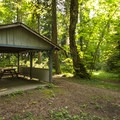 Priest Point Park picnic shelter (no number).- Priest Point Park