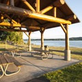 Louis Rasmussen Day Use Park picnic shelter.- Louis Rasmussen Day Use Park