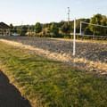 Louis Rasmussen Day Use Park sand volleyball courts.- Louis Rasmussen Day Use Park