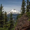 Another close-up view of Mount Hood (11,250').- Lookout Mountain from High Prairie