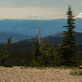 On a clear day, views of Mount Adams (12,280') and Mount Rainier (14,409') to the north.- Lookout Mountain from High Prairie