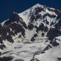 Mount Hood (11,249') viewed from the Burnt Lake Trail.- Burnt Lake + Zigzag Mountain