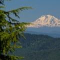 Mount Adams (12,281').- Burnt Lake + Zigzag Mountain