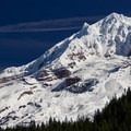 View of Mount Hood (11,249') in the fall.- Burnt Lake + Zigzag Mountain