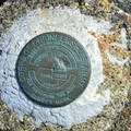 Army Corps of Engineers marker at the Coquille River Lighthouse.- Coquille River Lighthouse