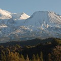 Approaching Mount Shasta (14,179') from the north.- Mount Shasta: Avalanche Gulch