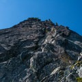The route up the south face.- The Tooth
