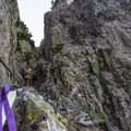 Rappel route down the east gully.- The Tooth