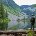 A place to rest or picnic at Talapus Lake.- Talapus Lake