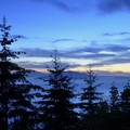 Twilight at the 1-mile viewpoint on the way down.- Oyster Dome