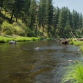 Middle Fork of the John Day River from the swimming hole off of Ritter Road.- Ritter Road Swimming Hole