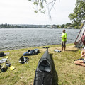Taking-out and collapsing kayaks at West Montlake Park.- Washington Park Arboretum Kayak/Canoe